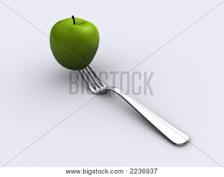 Apple And Fork