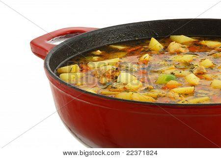 Saucepan With Hot Ragout