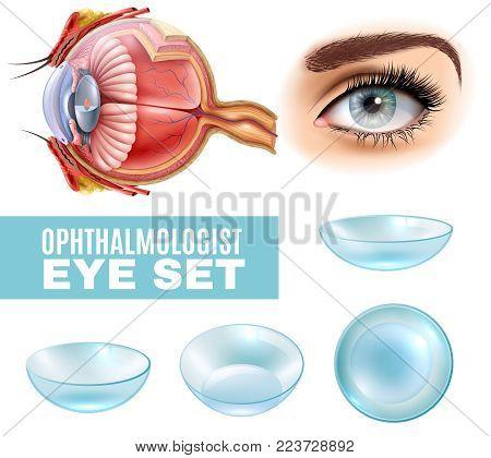 Ophthalmology realistic set