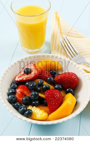 Fresh Colorful Fruit Salad