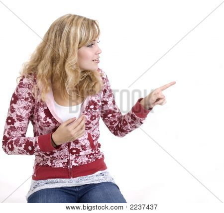 Girl Pointing