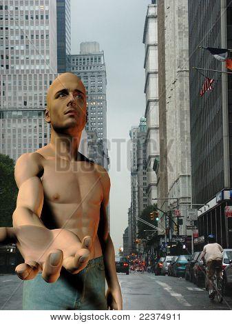 New York City Panhandler