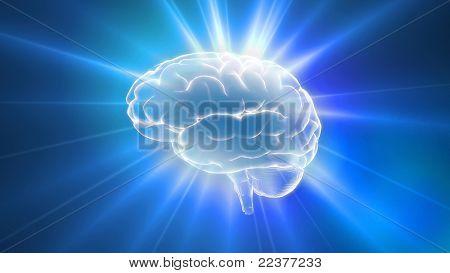 Llamaradas de contorno de Blue brain