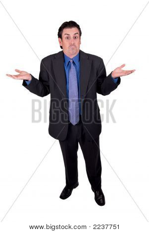 Businessman Shrugging