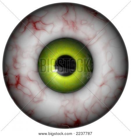 Estranho globo ocular