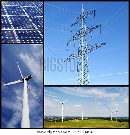 Green energy collage