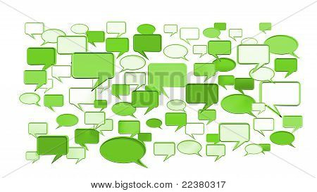 Green conversation icons