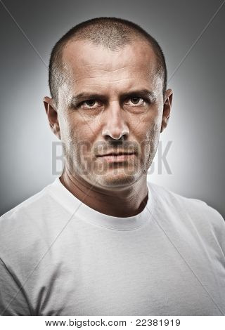 Menacing Man Portrait