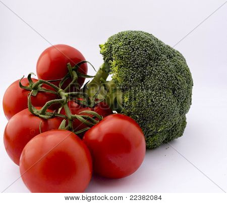 tomatoes and broccoli