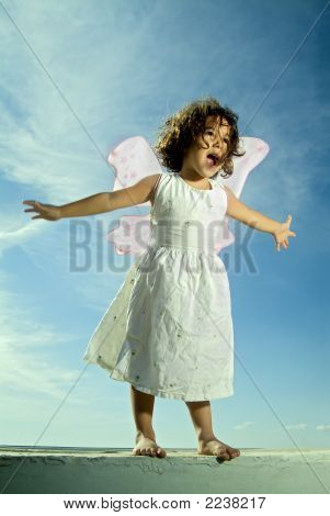 Young Girl Flying