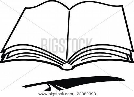 Cartoon book and feather
