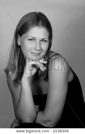 Portrait Of Stylish Young Woman