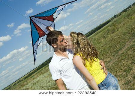 Boy And Girl Kiss