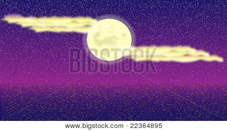 Lua e mar