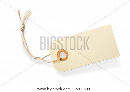 Blank Paper Label Tag