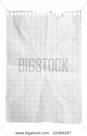 Squared Paper Notepad Sheet