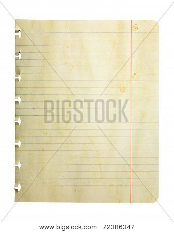 Dirty Weathered Notepad Page
