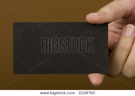 Black Visiting Card