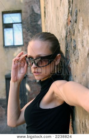 Model In Glasses