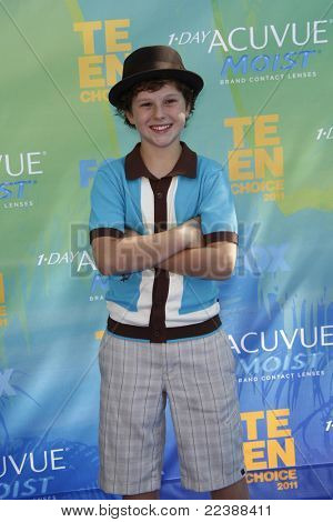 LOS ANGELES - AUG 7:  Nolan Gould arriving at the 2011 Teen Choice Awards at Gibson Amphitheatre on August 7, 2011 in Los Angeles, CA