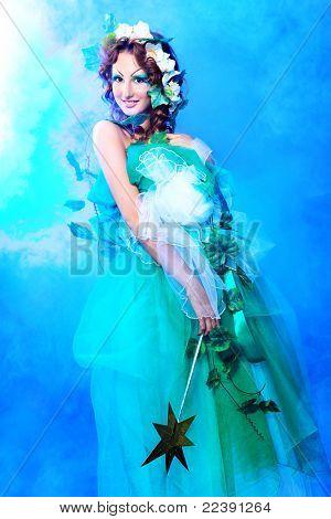 Portrait of a dreamy fairy girl.