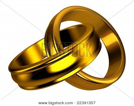 Gold wedding rings, jewelry
