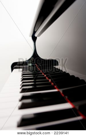 Blurred Piano Keys