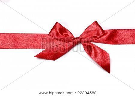rot urlaub Bogen auf weißem Hintergrund