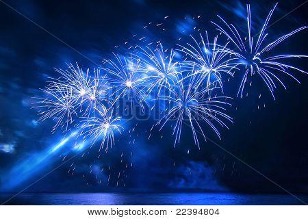 Salute, fireworks.