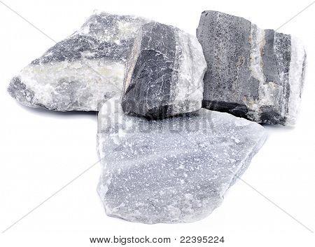 marble stone isolated on white background