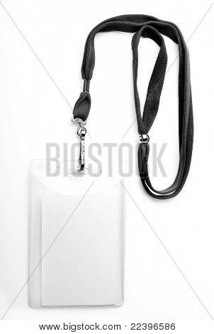 ID Badge aislado en blanco
