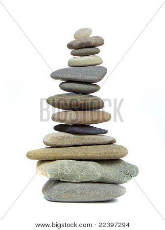 Pebbles Balanced in Zen State