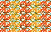 Whirly Yellow And Orange (Vector) poster