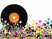 Vinyl Color Disco Dots (Vector) - Illustrated Object / Background