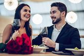 Romantic Couple In Restaurant poster