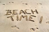 picture of cortez  - No better way to announce summer fun than carving your message in a sandy - JPG