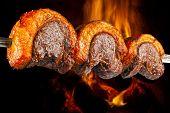 Picanha, traditional Brazilian barbecue.  poster