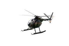 picture of hughes  - Hughes 369HM helicopter of the Spanish Navy isolated on white - JPG