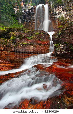 Virginia Falls At Glacier National Park