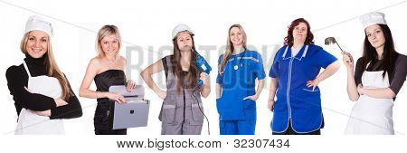 The image of women, representatives of different professions