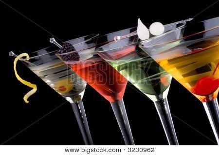 Klassische Martini - beliebtesten Cocktails-Serie