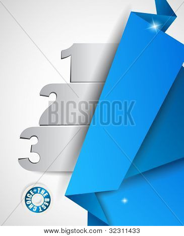 Origami option men�?�?�?�¹ with 3 choices. Ideal for web usage, depliant for product comparison or business presentation.