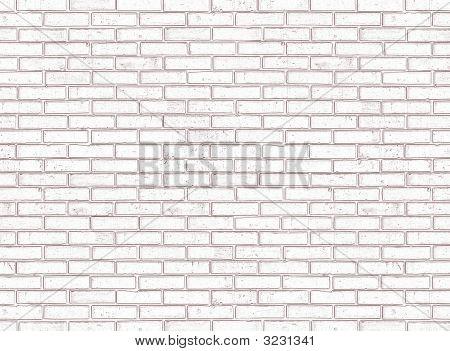 Seamless White Brick Wall