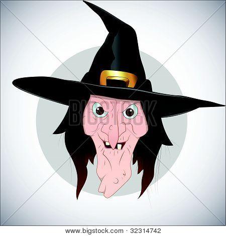 Vectores y fotos en stock de vector de cara de bruja - Caras de brujas ...
