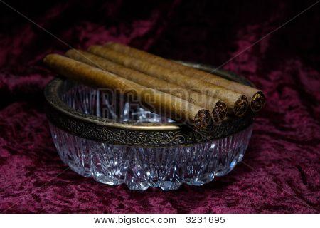 Cigar on an Ashtray