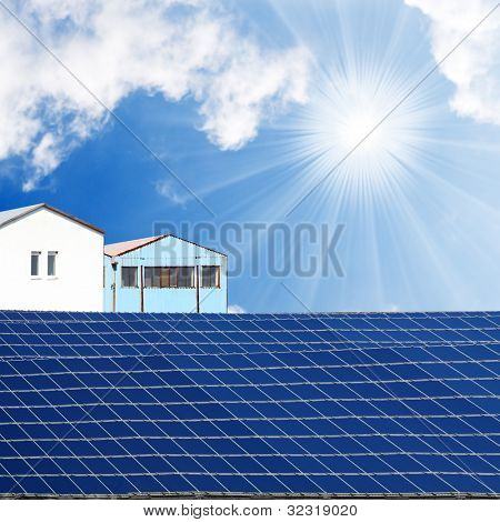Solar power station. Alternative energy concept.
