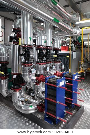 moderne Gas-Heizungsraum
