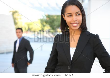 Beautiful African American Business Woman