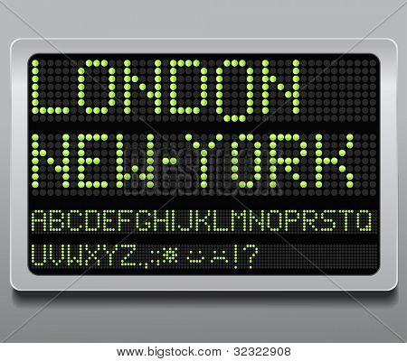 Information led board