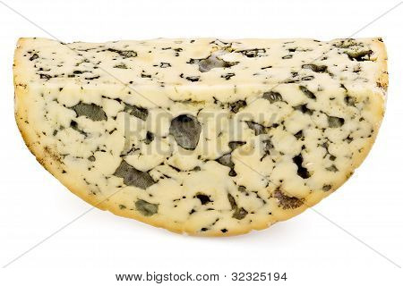 Slice Of Roquefort Cheese